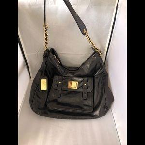 Badgley Mischka leather hobo bag